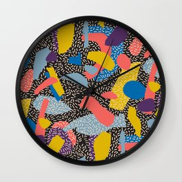 Memphis Inspired Pattern 1 Wall Clock