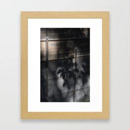 Floral Shadows in a Japanese Garden Framed Art Print