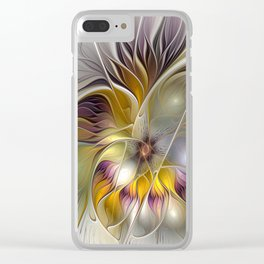 Abstract Fantasy Flower Fractal Art Clear iPhone Case