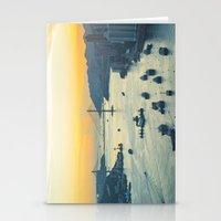 hong kong Stationery Cards featuring Hong Kong by Rothko