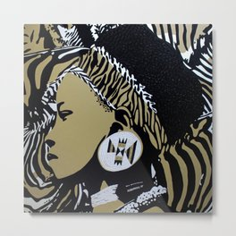 Zulu girl with zebra print 3 Metal Print
