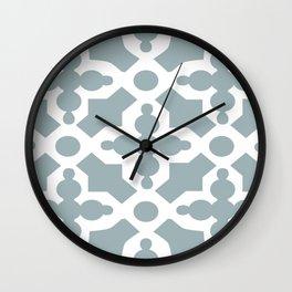 Kirkbride Victorian Ventilation Grille Design Pale Blue Wall Clock