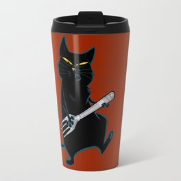 Cat with a fork Travel Mug