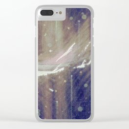 Follow my dreams into distant lands. Clear iPhone Case