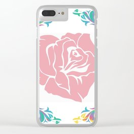 Large Rose Clear iPhone Case
