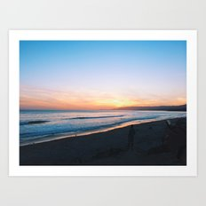 sands sunset Art Print