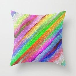 Colorful digital art splashing G479 Throw Pillow