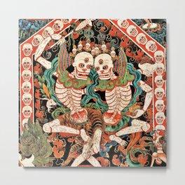 Citipati Tibetan Cemetery Guardians Metal Print