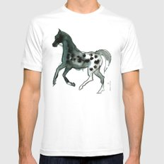 Horse (Leopard) MEDIUM White Mens Fitted Tee