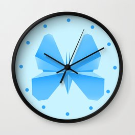 Blue Butterfly Aunty - Origami Blue Butterfly Wall Clock