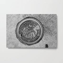 New Orleans Water Meter Metal Print