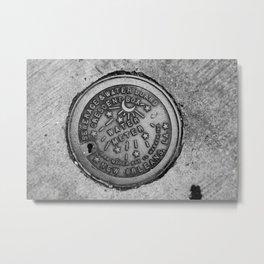 New Orleans Water Meter Metal Print