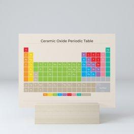 Ceramic Oxide Periodic Table in Bright on Sand Mini Art Print