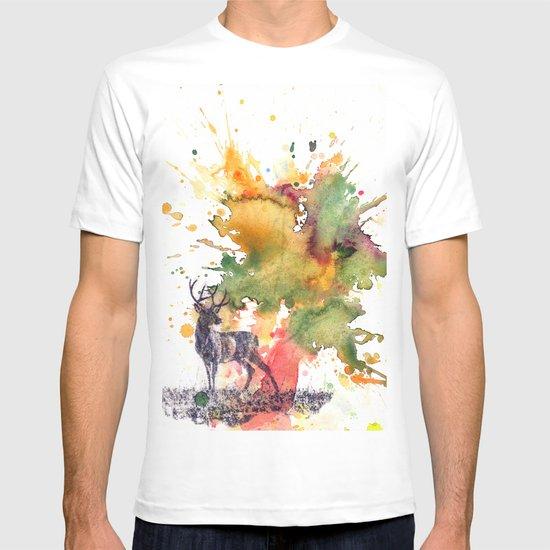 Buck Deer in Splash of Color T-shirt