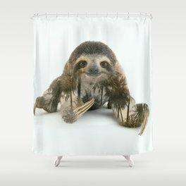 Arctic Sloth Shower Curtain