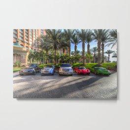 Luxury Cars Dubai Metal Print