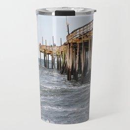 Fishing Pier, Avon, NC Travel Mug