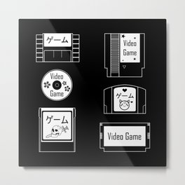 Retro Gaming Metal Print