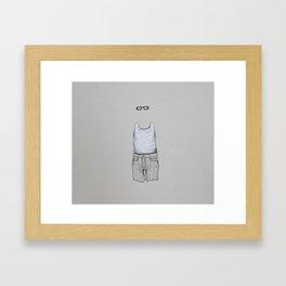 Male Specimen II Framed Art Print