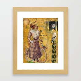 A Fine Morning for Cycling Framed Art Print