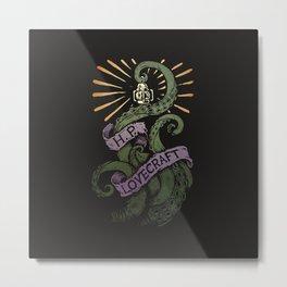 H.P. Lovecraft Tentacle Metal Print