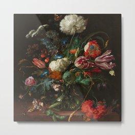 """Jan Davidsz. de Heem """"Vase of Flowers"""" Metal Print"""