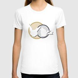Poko & Yuki - White Silhouette  T-shirt
