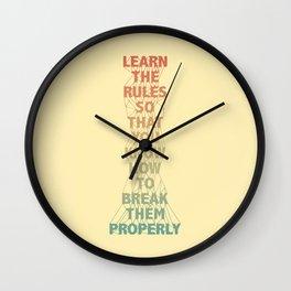 Life Lesson #5 Wall Clock