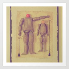 Dad's Puppets Art Print