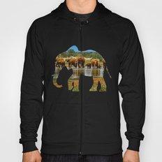 African Elephant Silhouette Hoody