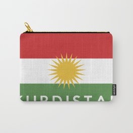 Kurdistan country flag name text Carry-All Pouch