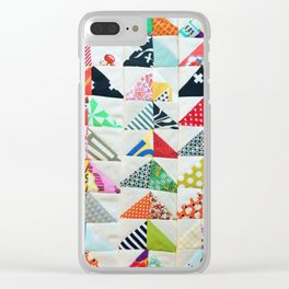 Flying Geese Quilt Pattern Clear iPhone Case