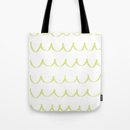 Citron Green Waves Tote Bag