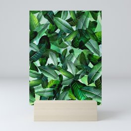 Banana palm leaf tropical jungle green Mini Art Print