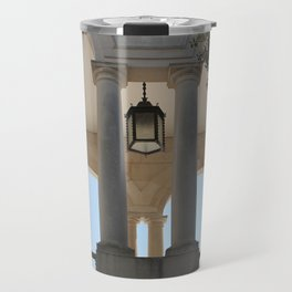 Looking into the archways of Fatima's Sanctuary Travel Mug