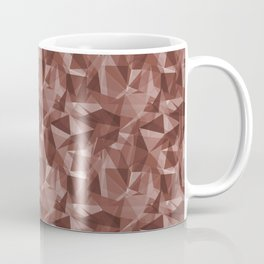 Abstract Geometrical Triangle Patterns 3 Dunn Edwards Spice of Life DET439 Coffee Mug