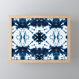 Velvet Shibori Blue Framed Mini Art Print