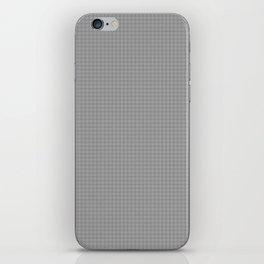 Minimalistic super small polka dots grey pattern iPhone Skin