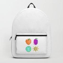Peach, Plum, Earth, Sun Backpack