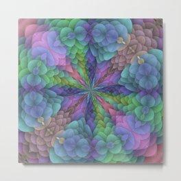 Floral Fractal Dynamo Metal Print