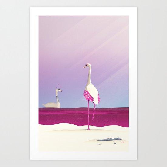 Flamingo Fatale Art Print