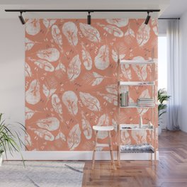 Feathers - Orange Wall Mural