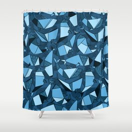 Origami whales Shower Curtain