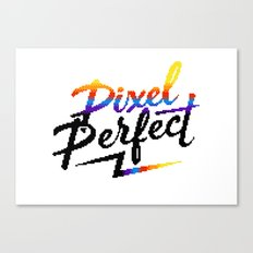 Pixel Perfect Canvas Print