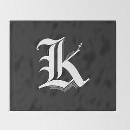 Letter K Throw Blanket