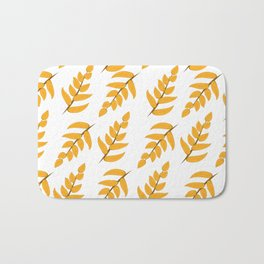 Orange leaves and branches Bath Mat