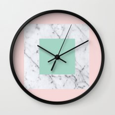 Marble with Pastels /// www.pencilmeinstationery.com Wall Clock