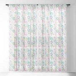 Watercolor Wheels Sheer Curtain
