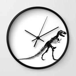 Tyrannosaurus Dinosaur skeleton Black and White Wall Clock