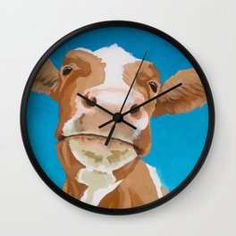 Enid the Contented Cow Wall Clock